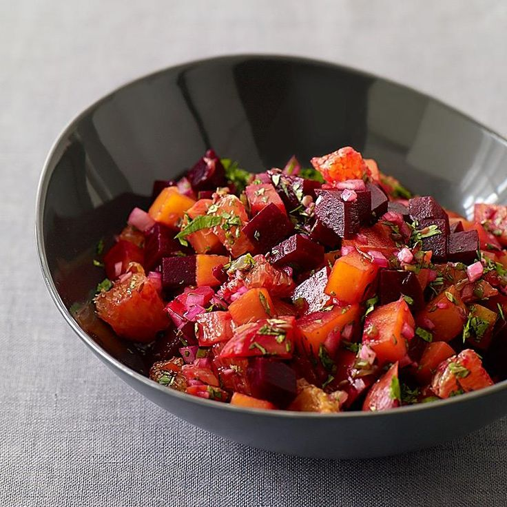 This roasted beet and orange salsa will definitely stand out from the store-bought tomato kind. Serve it as an appetizer and your guests will be talking all night about how delicious it was!