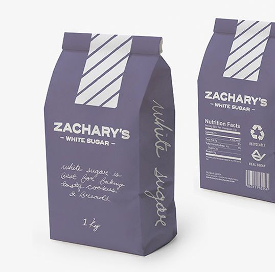"""Chalkboard """"finish"""" on brown bag packaging with chalk writing"""