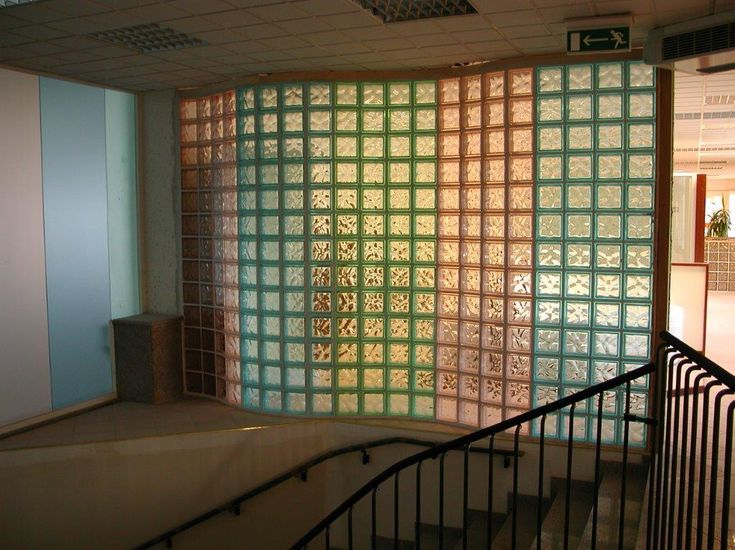check out this stunning glass block wall filled with color it will instantly make