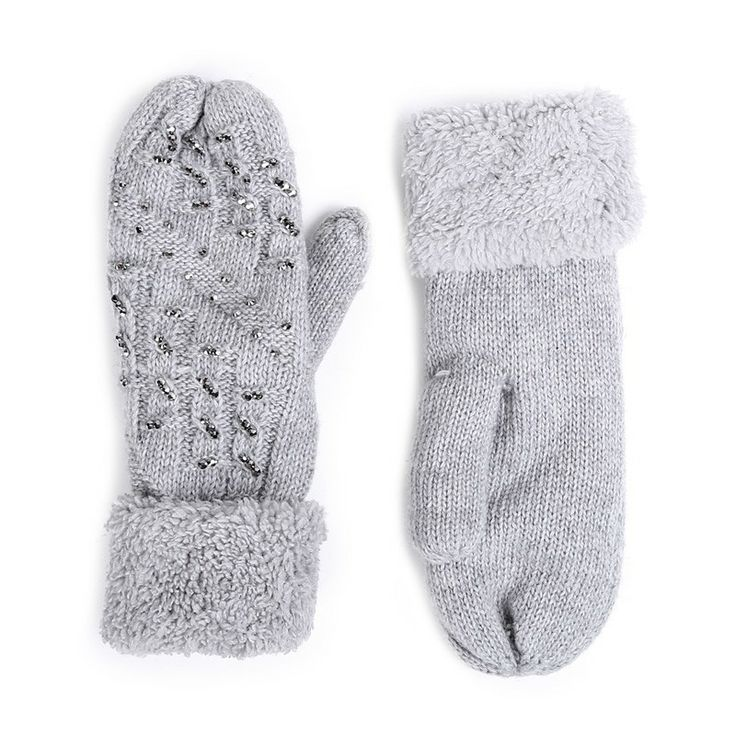 Autumn/Winter 2014 | FULLAHSUGAH EMBELLISHED CABLE KNIT MITTENS | €14.90 | 4460101822 | http://fullahsugah.gr