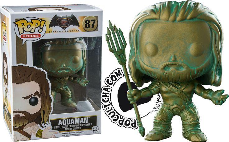 Batman vs Superman: Dawn of Justice   Patina Aquaman Pop! Vinyl Figure   Patina Aquaman Funko Pop   Aquaman Funk Pop   Popcultcha