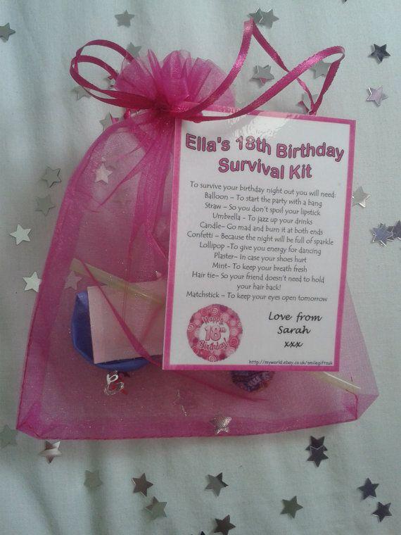 18th Birthday personalised gift  survival bag by SmileGiftsUK, £4.99