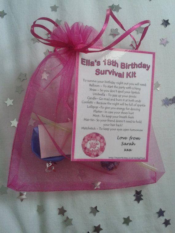 18th Birthday Personalised Gift Survival Bag By