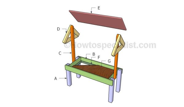 How to build a deer feeder howtospecialist how to for Deer stand steps