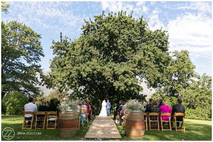 Outdoor #wedding #ceremony at #MolenVliet, Stellenbosch, Cape Town.