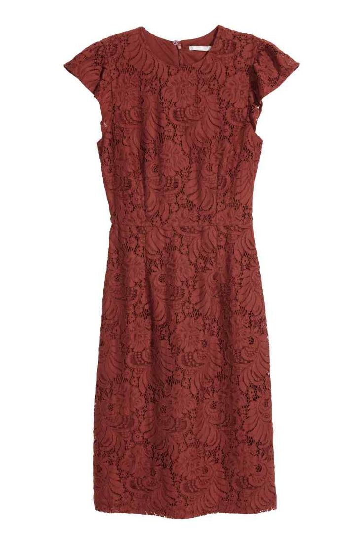 Čipkové šaty - hrdzavočervená - ŽENY | H&M SK