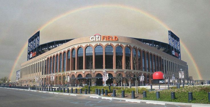 Rainbow over Citi Field Home of the New York Mets