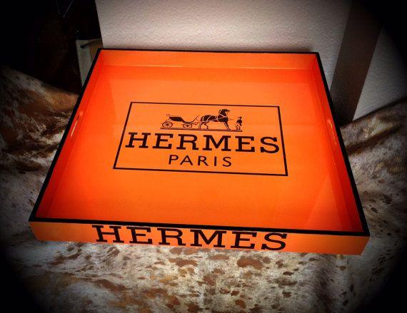 hermes replica serving tray