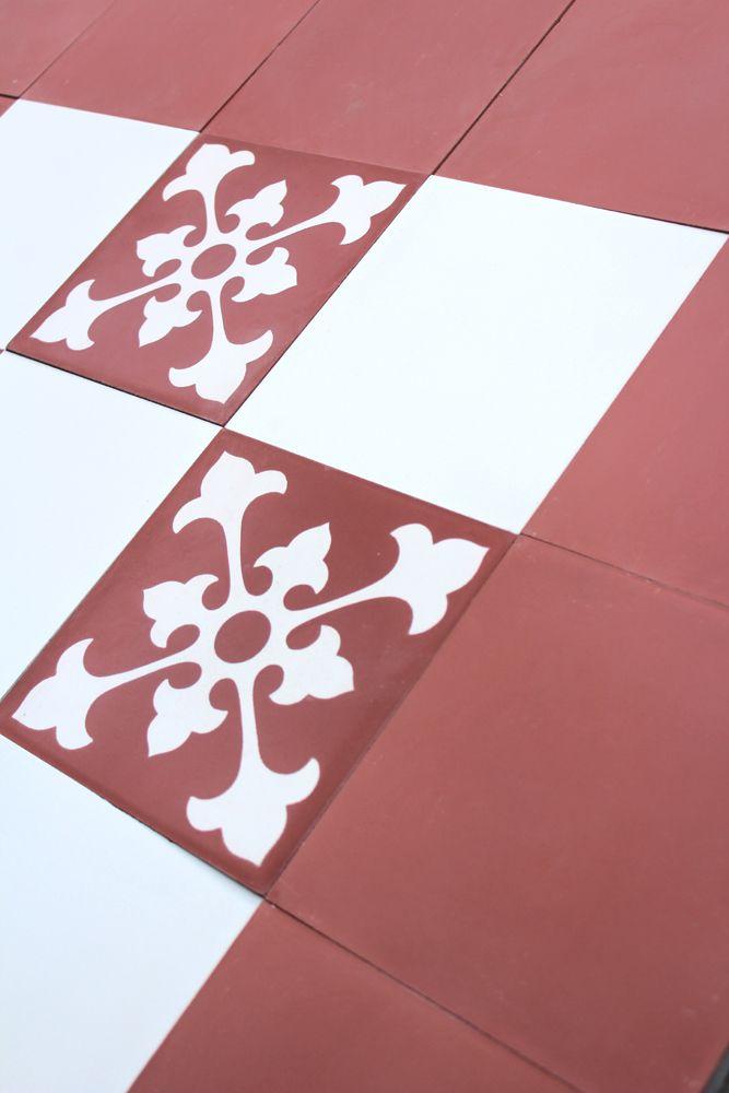 carreau ciment riad - carreau de ciment rouge - carreaux ciment rouge