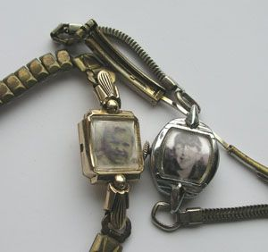 vintage watch picture frame bracelet - GREAT use for grandma's old watches!