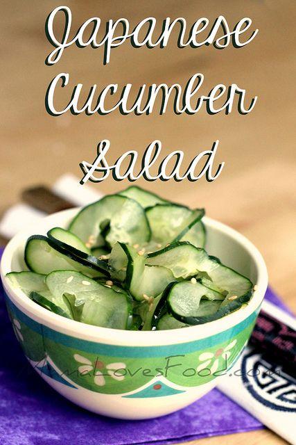 Japanese Cucumber Salad by MommyNamedApril, via Flickr