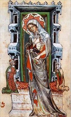St. Hedwig--With her husband, Henry I of Silesia, founded numerous religious houses and hospitals.