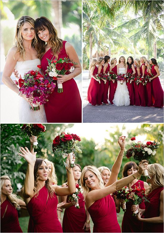 red bridesmaid dresses @weddingchicks