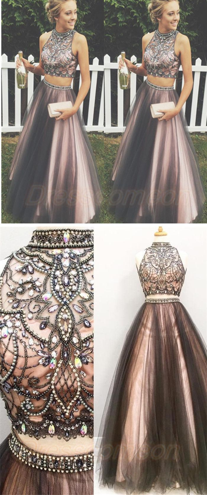 Prom Dress,Party Dresses,Graduation Dresses,Sweet 16 Dress,Women Dresses,Prom Dresses For Teens,Modest Prom Dresses,Prom Dresses 2017,Plus Size Prom Dresses, Two Pieces Prom Dresses,A-line Tulle Prom Gowns,Halter Beading Evening Dresses,Beautiful Party Dresses,Cute Dress