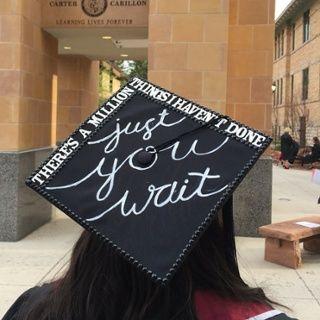 Hamilton: An American Musical graduation cap | SUU 2016