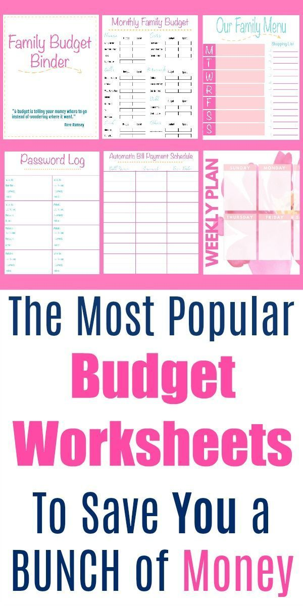 the 6 most popular free budget printables