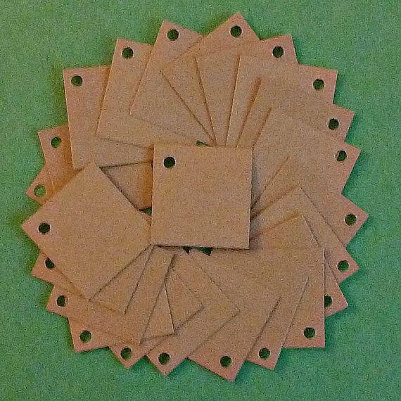 50 vierkante tags sieraden tags mini tags hang door NancyMakesToo