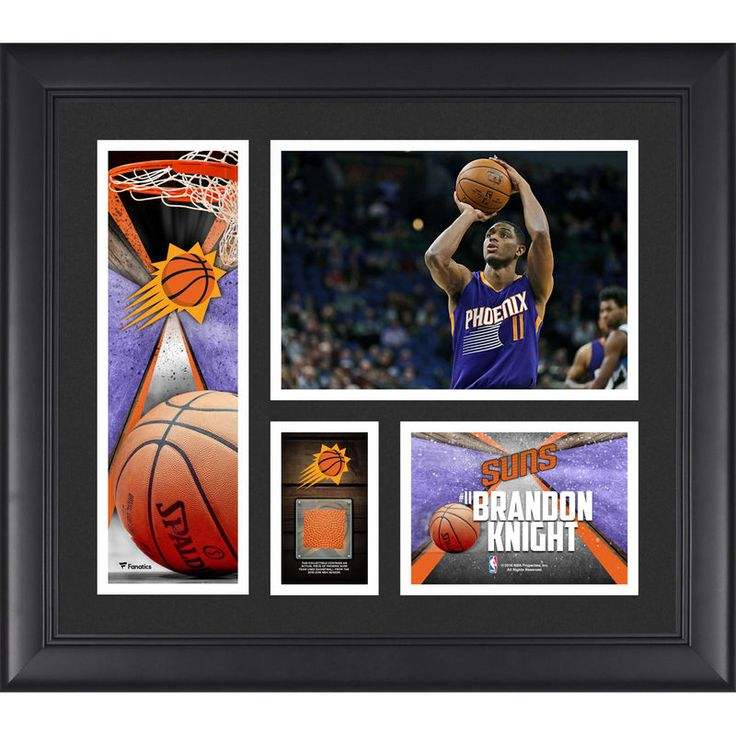 """Brandon Knight Phoenix Suns Fanatics Authentic Framed 15"""" x 17"""" Collage with a Piece of Team-Used Ball"""