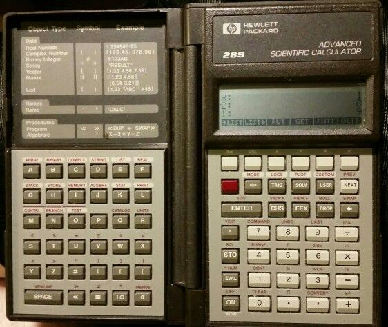 HP 28S RPN graphing calculator