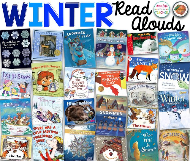 Winter Read Aloud ideas with a checklist