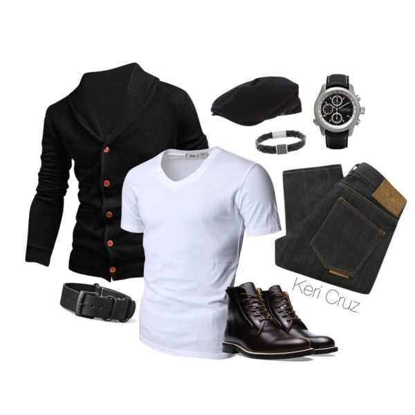 Men's Fashion by keri-cruz on Polyvore featuring Swarovski, Doublju, Natural Selection and Giorgio Armani
