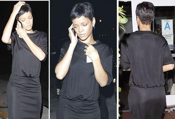 Rihanna's pixie cut:
