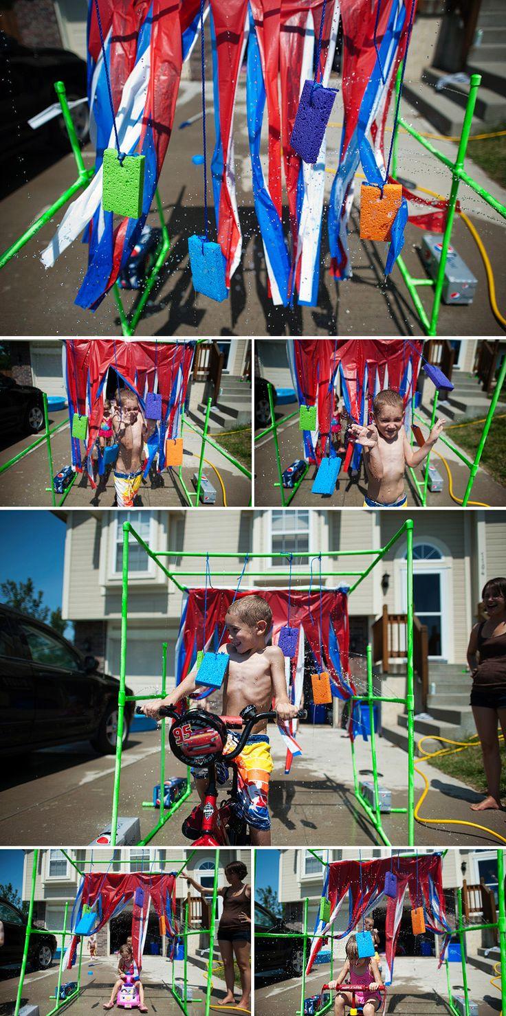 Kids Drive Through Bike Wash:) Make your own!!