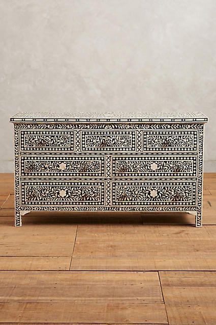 Bone Inlay Seven-Drawer Dresser