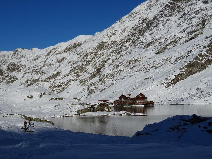 Lago Balea nevado.
