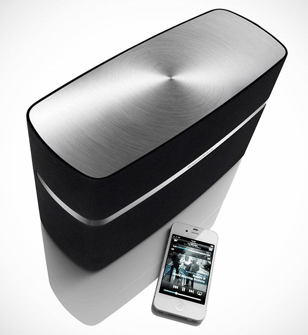 Bowers & Wilkins. Their new wireless home speaker systems, available in two sizes, continue the superior sound tradition while offering features like wireless audio hook-ups compatible with the latest Apple devices. I bet its SO loud!!