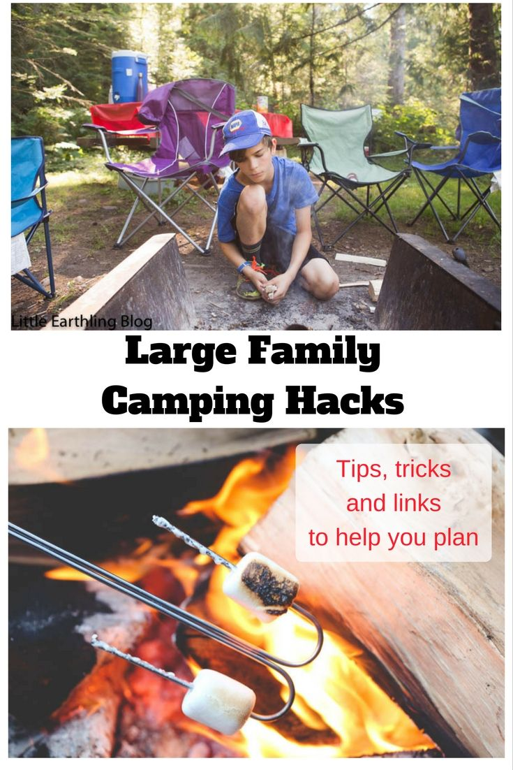 Camping hacks to help you get the most out of your family camping trips. Tips from a mom with 14 kids.