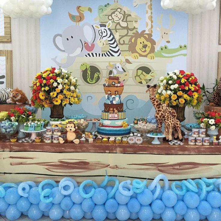 """""""Arca de Noé #festademenino #partydesing #party #decoracaoinfantil #ginamondego #festas #insta #arcadenoe #arkofnoah #arkofnoahproductions…"""""""
