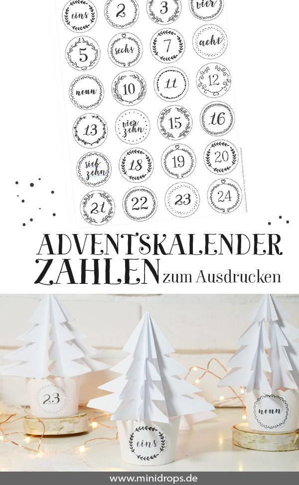 die besten 25 adventskalender zahlen ideen auf pinterest adventskalender vorlagen ausdrucken. Black Bedroom Furniture Sets. Home Design Ideas