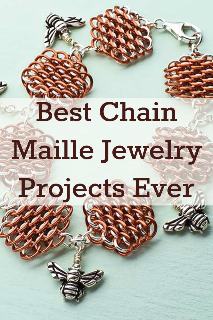 You'll create beautiful chain maille jewelry in no time with these 4 FREE chain maille jewelry projects. #jewelrymaking #chainmaille #DIY