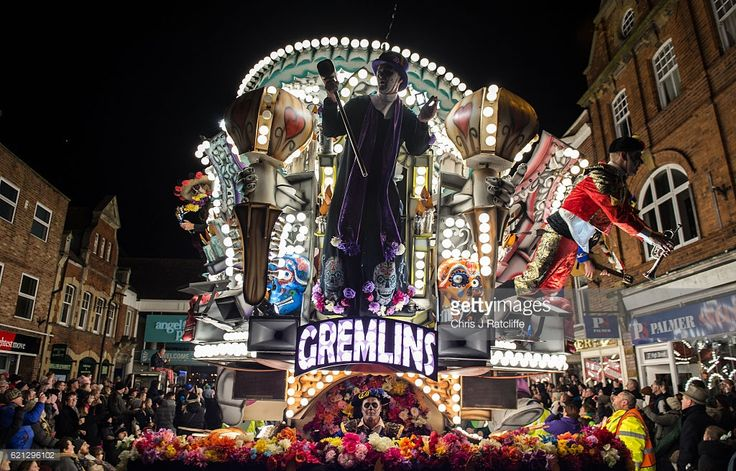 The 'Gremlins' club exhibit a 'Day of the dead' themed cart during the annual Bridgewater Carnival on Bonfire night on November 5, 2016 in Bridgwater, England. Bridgwater Carnival is the first of the Somerset Carnival season and sees 47 carts taking place, 27 of which are over 100 feet in length and the event gathers crowds of 150,000. It starts the series of parades in towns throughout Somerset in November, widely regarded as the largest illuminated Carnival in Europe. The major regional…