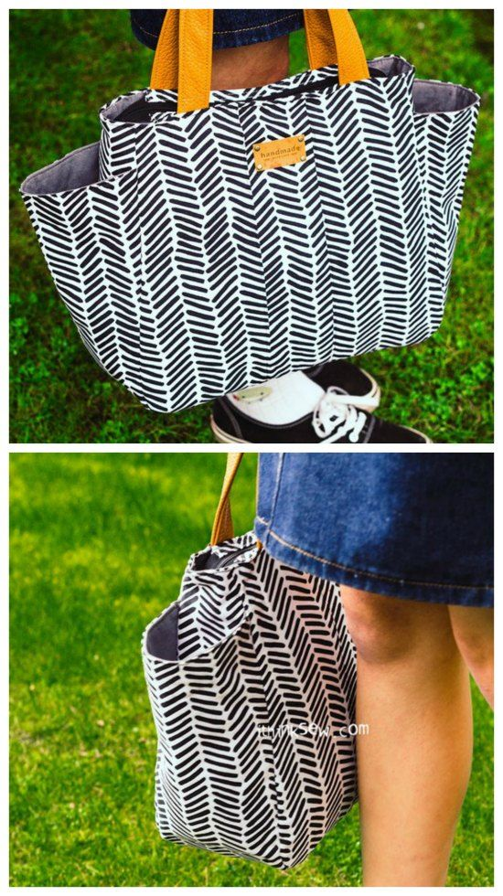 Tote Bag Patterns With Pockets To Sew Free Pocket Tote