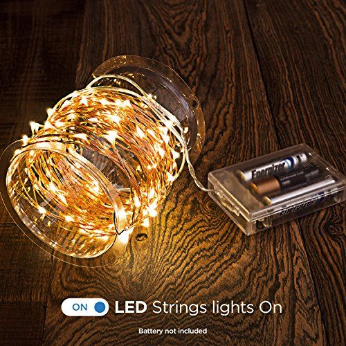 LED String Lights with Remote Control, Timer and 8 Working Modes. Batteries not Included – 33 ft (132 LEDs) – Home & Living