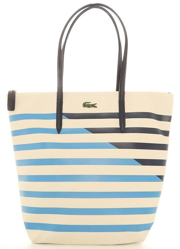 Bolsa Vertical Tote Bag Bege Lacoste - Posthaus