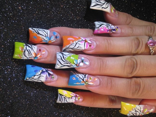 Wide Tip nails