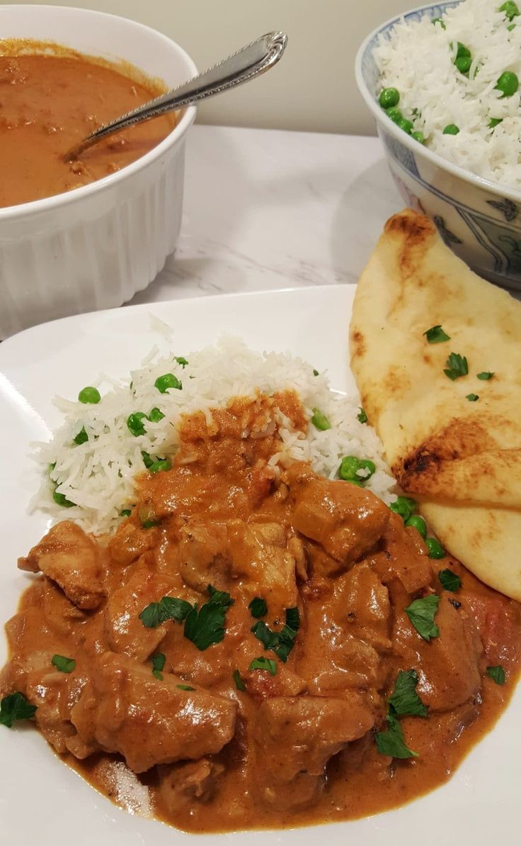 Pressure Cooker Chicken Tikka Masala with Butter Rice Image