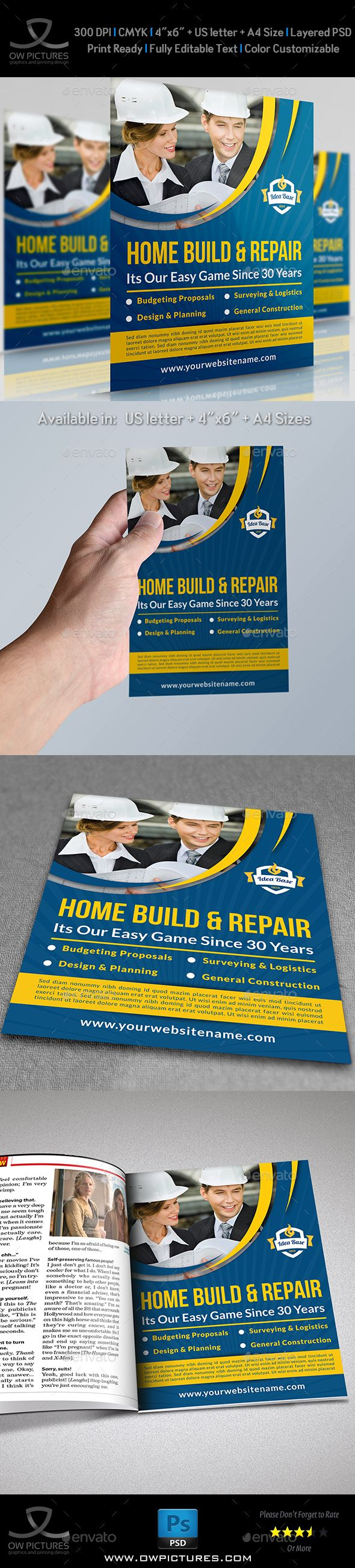 Construction Business Flyer Vol.3 — Photoshop PSD #road #import • Available here → https://graphicriver.net/item/construction-business-flyer-vol3/8182508?ref=pxcr
