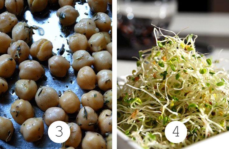 Pois chiches et graines germ es cuisine salades - Cuisiner des pois chiches ...