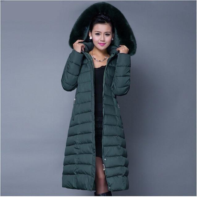 bf9433c5a Winter Jacket Women 2018 New Winter Coat Women Long Parka Luxury Fur ...