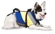 Fido Float Extreme Dog Life Vest Neoprene Dog Float Blue yellow