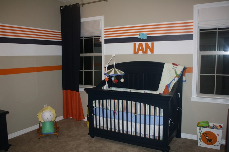 Young America transitional crib in navy