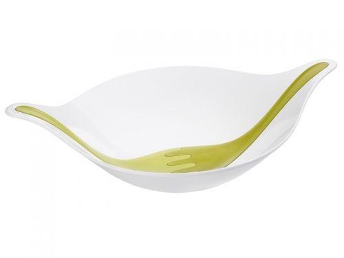 Koziol LEAF saláta tálaló, fehér/zöld