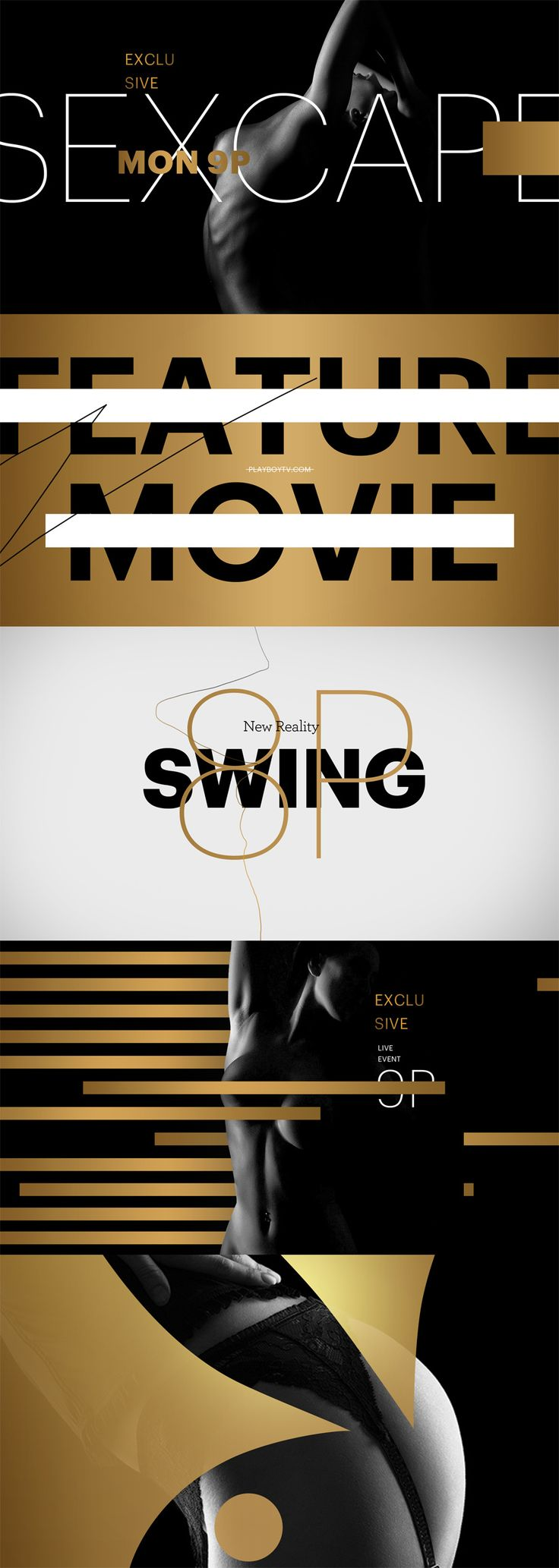 style frames - motion graphic design Playboy TV - Carla Dasso