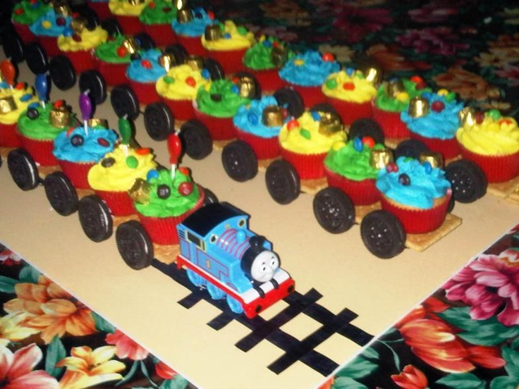 Thomas The Train Cupcakes