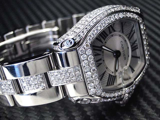 Cartier Roadster Women's Diamond Watch 5 1/2 carats and 9000.00 USED...i. die .