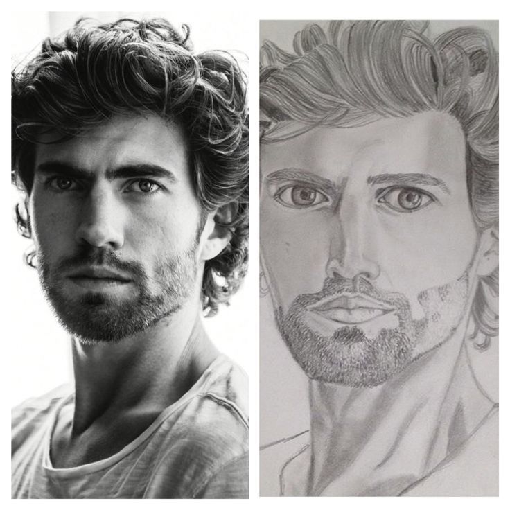 Benja Bruining (dutch actor) portrait, pencil drawing